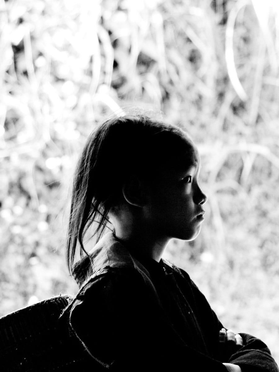 Vietnam girl silhouette