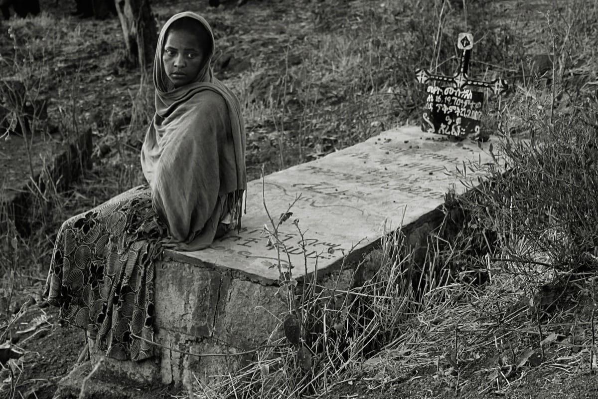 Lalibela Ethiopia girl grave grief