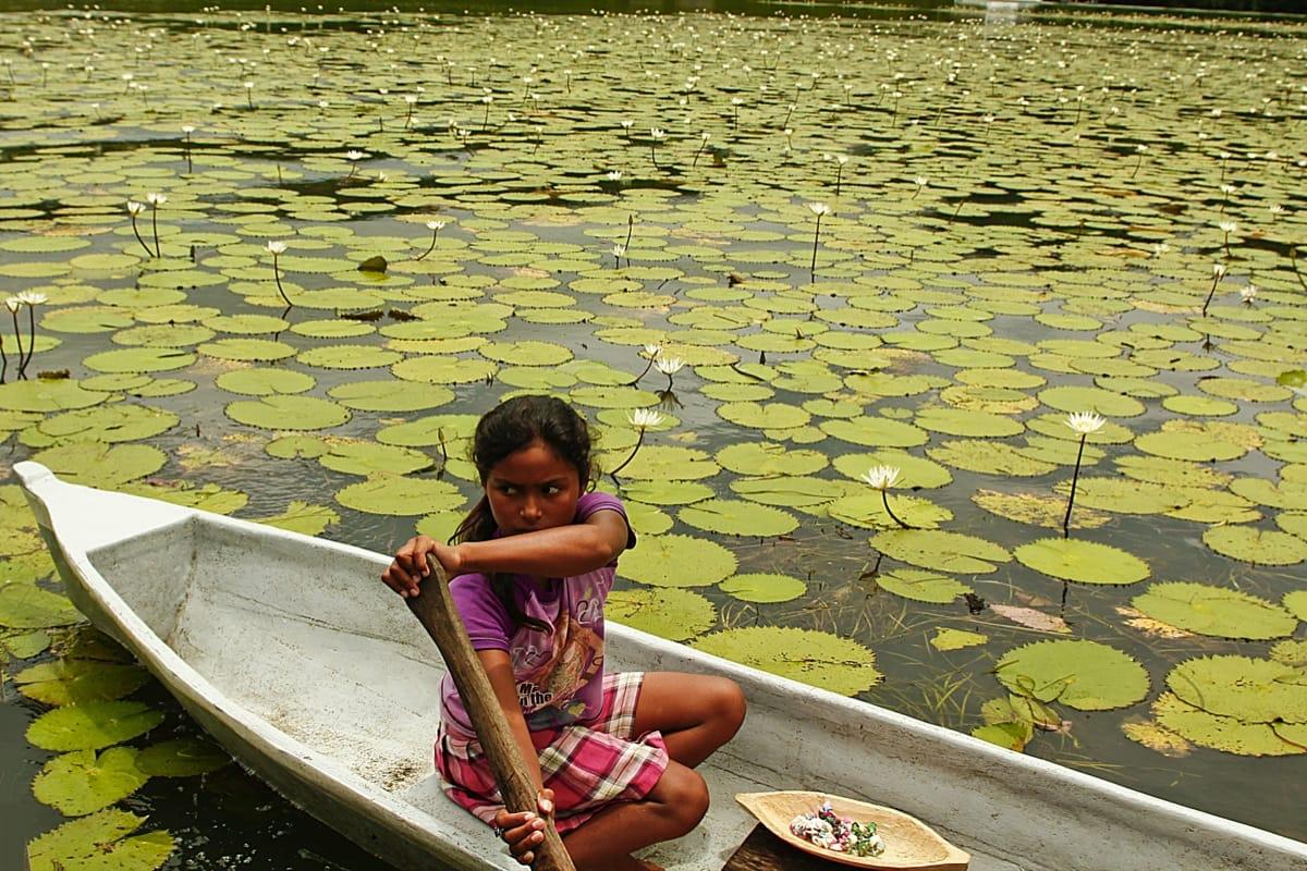 Guatemala girl waterlilly