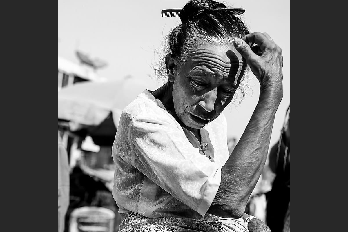 Myanmar old lady