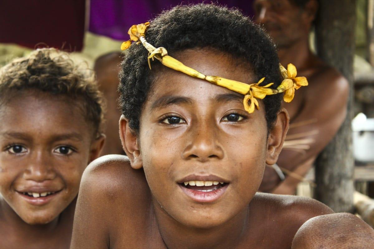 Papua New Guinea Trobriant kid