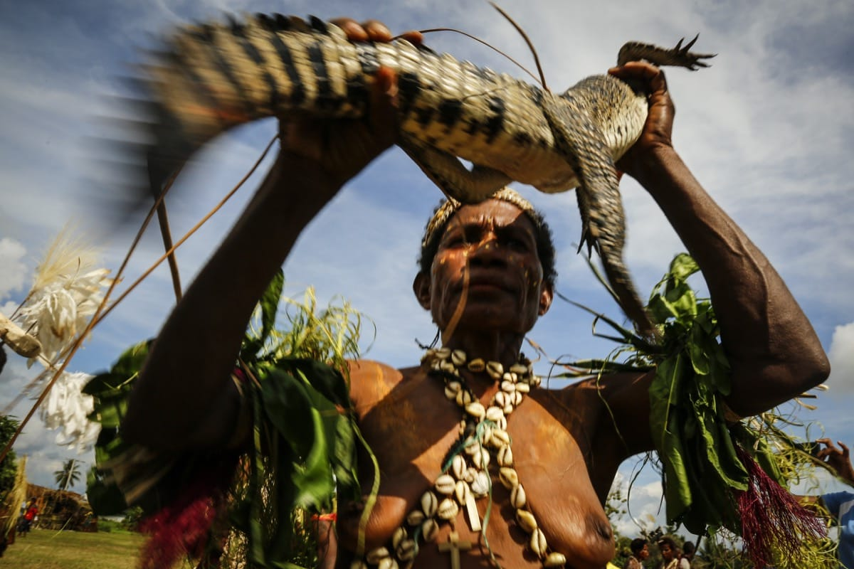 Papua New Guinea Corocodile Festival