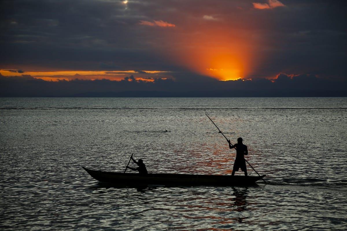 Madagascar sunset boatman