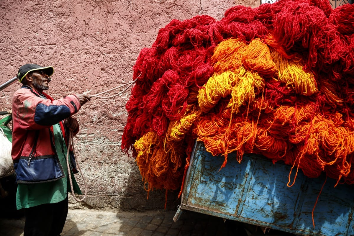 Morocco color dyeing