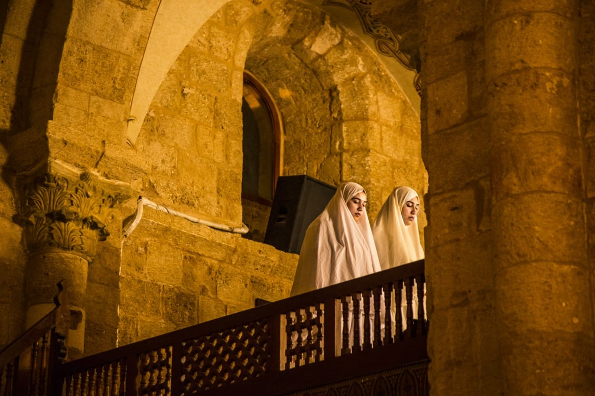 Lebanon mosque pray religion girls