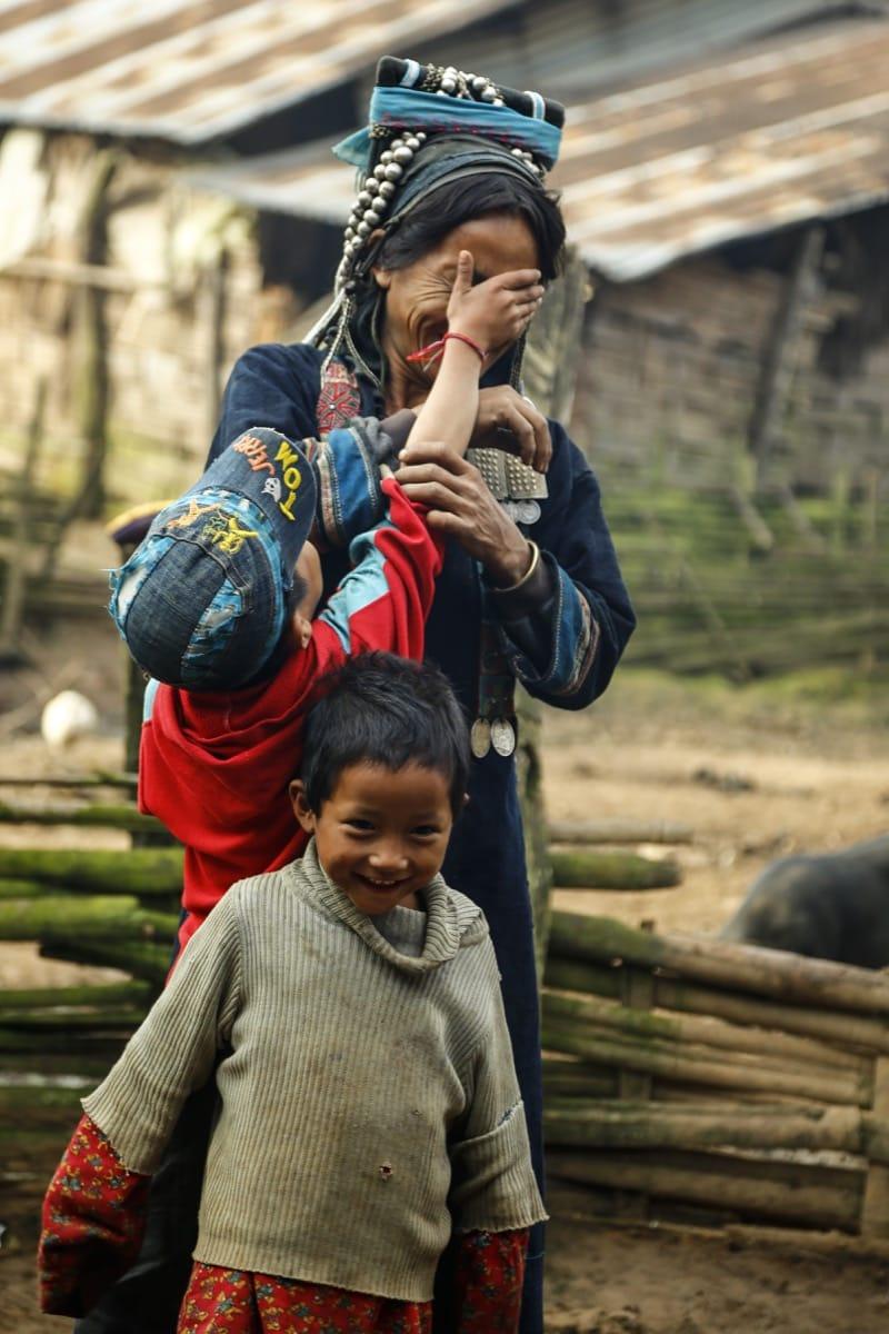 Laos Akha tribe mother