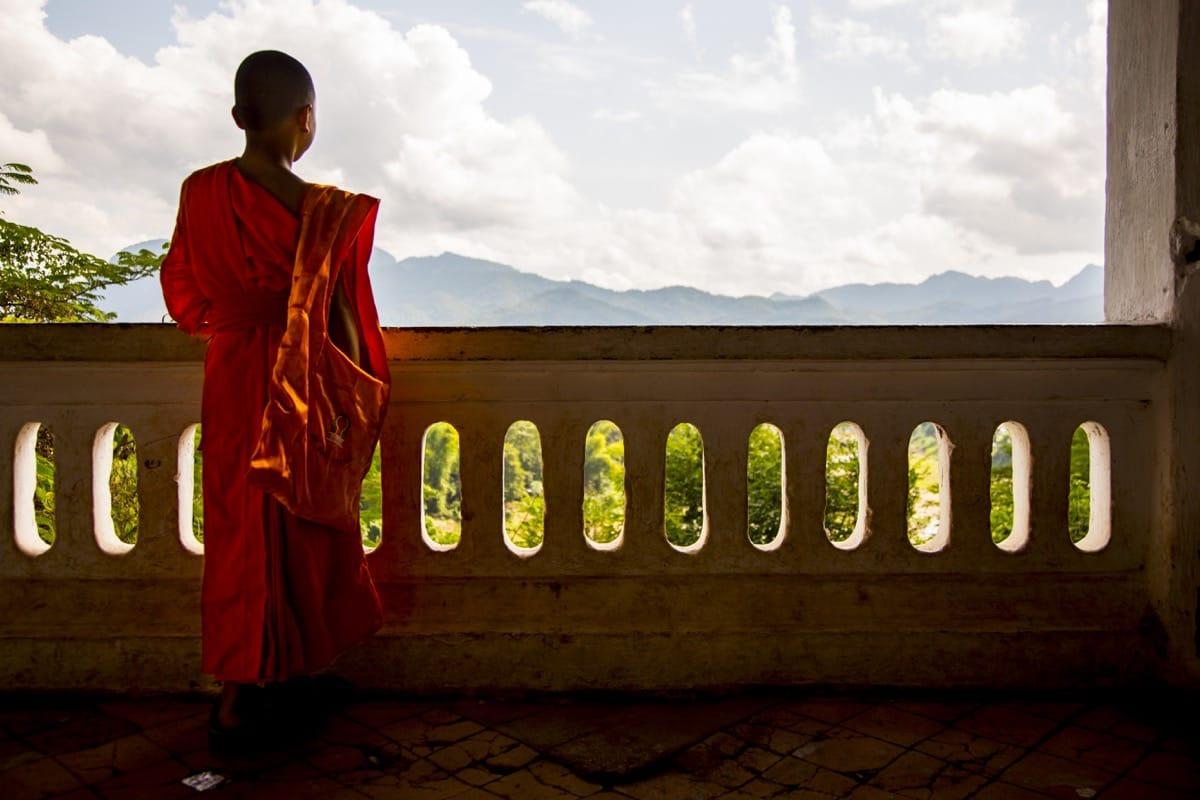 Laos monk Buddhism Luang prabang