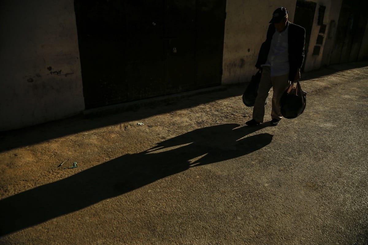 Morocco man shadow
