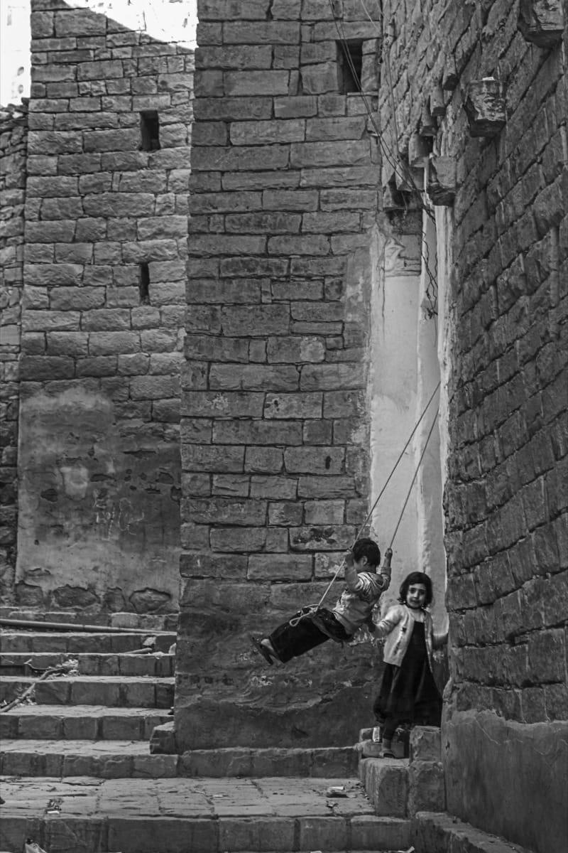 Yemen children swing