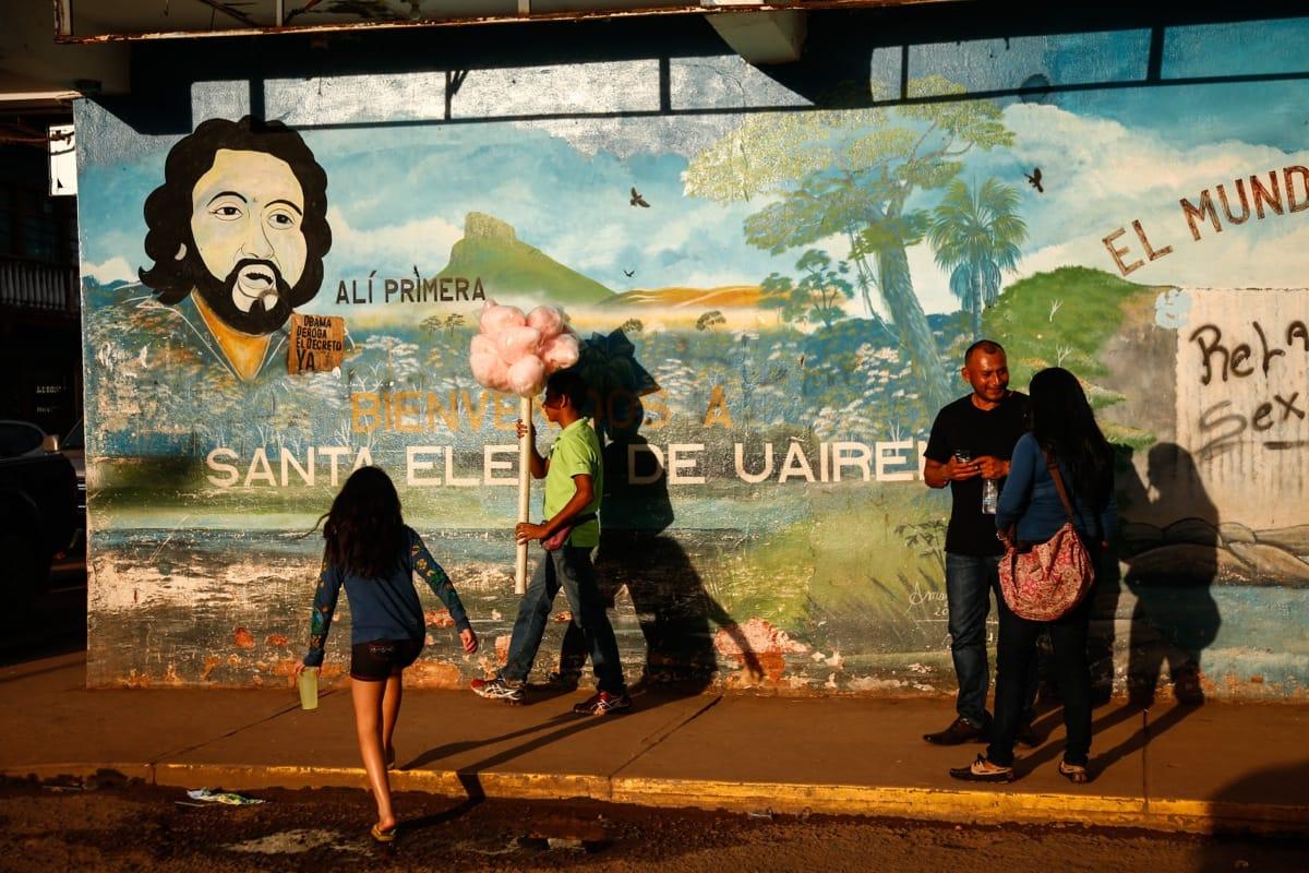 Venezuela sunset people