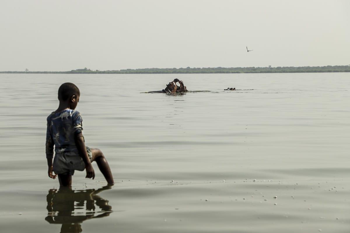 Uganda kid hippo
