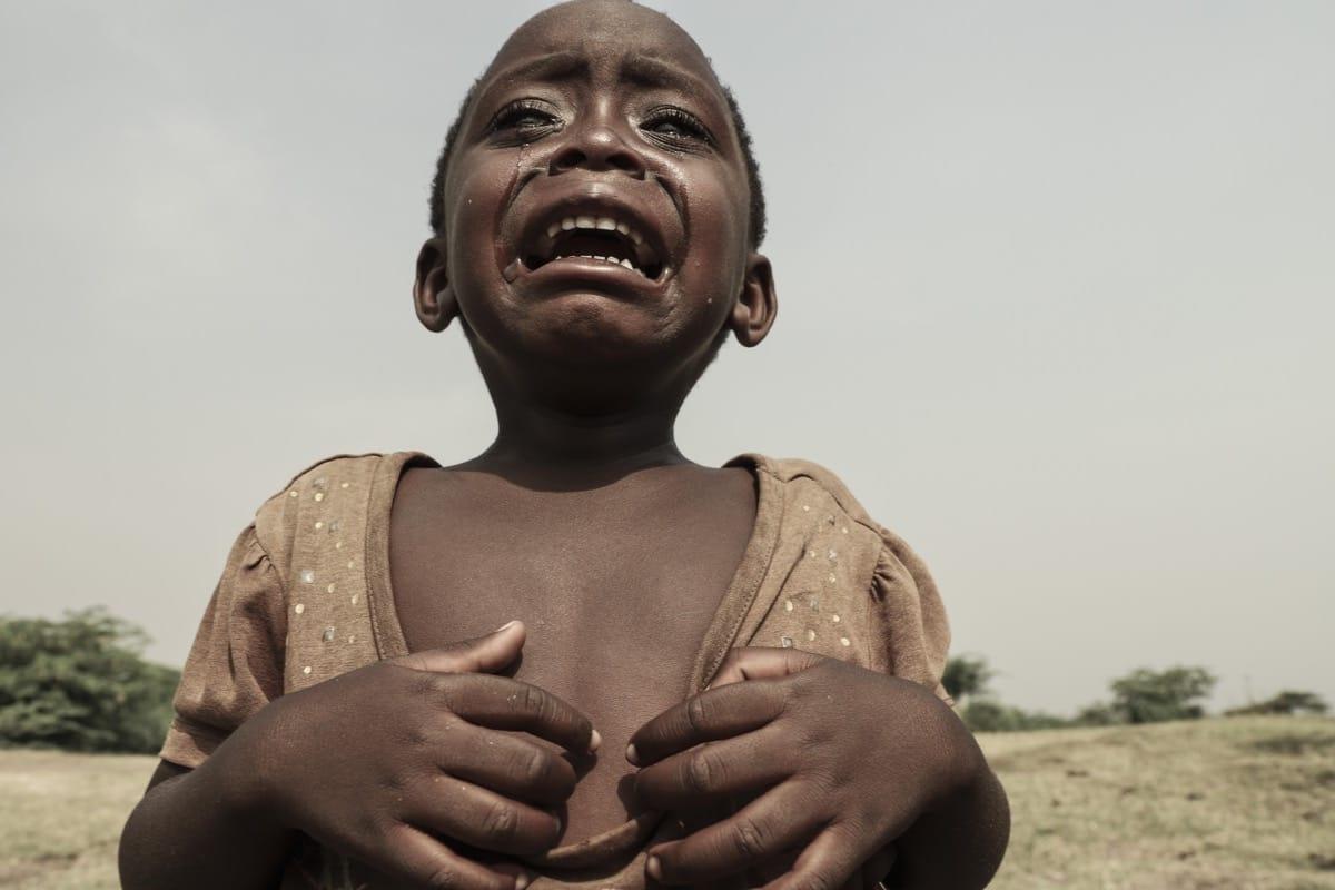 Uganda girl cry