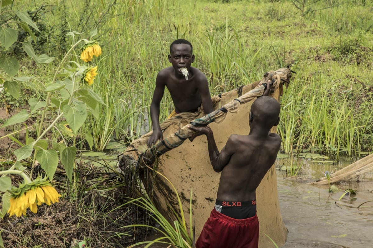 Rwanda fisherman