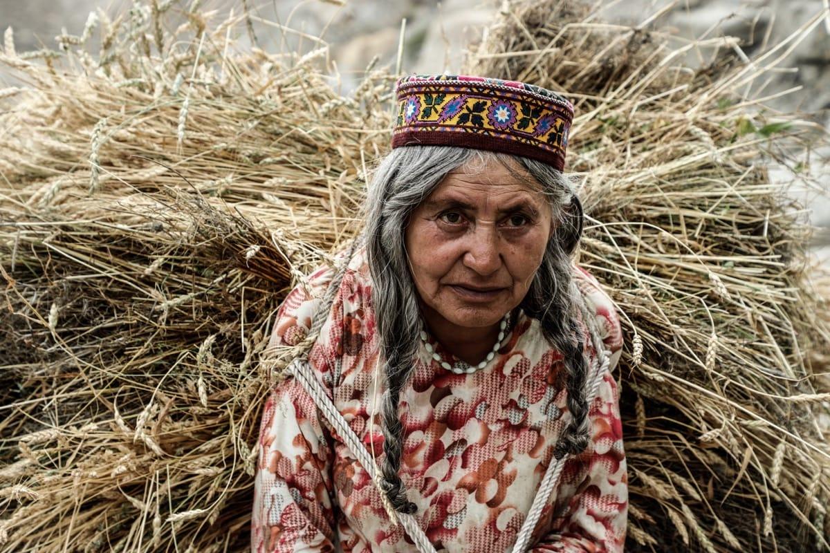 Pakistan old woman Hunza valley