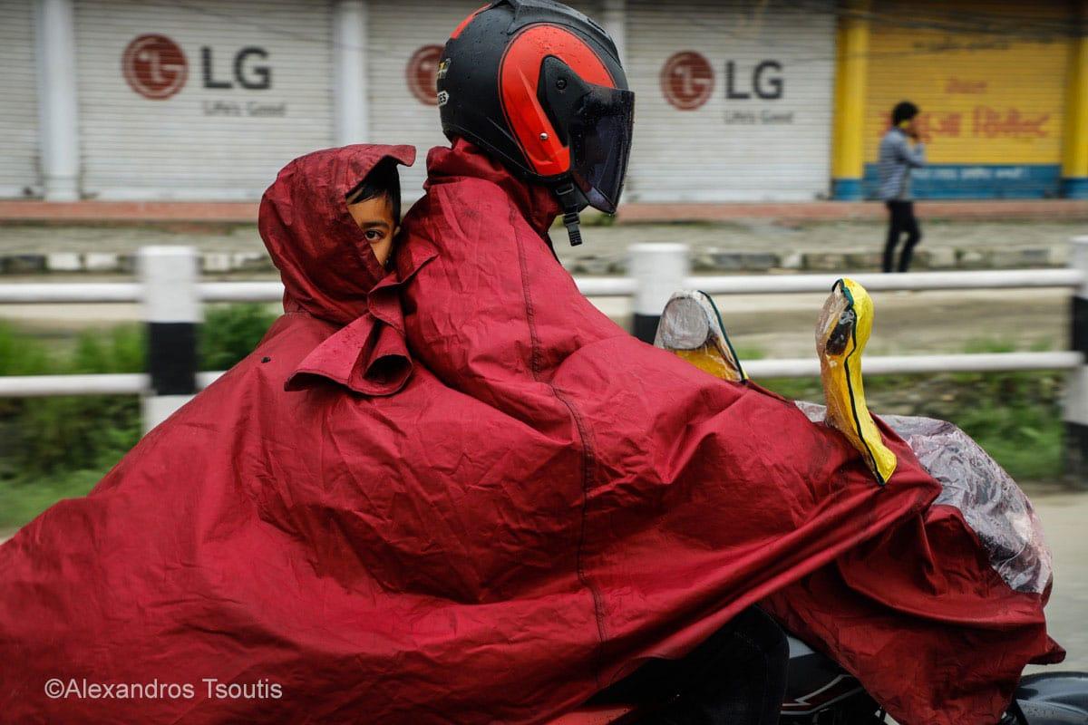 Nepal kid motorcycle