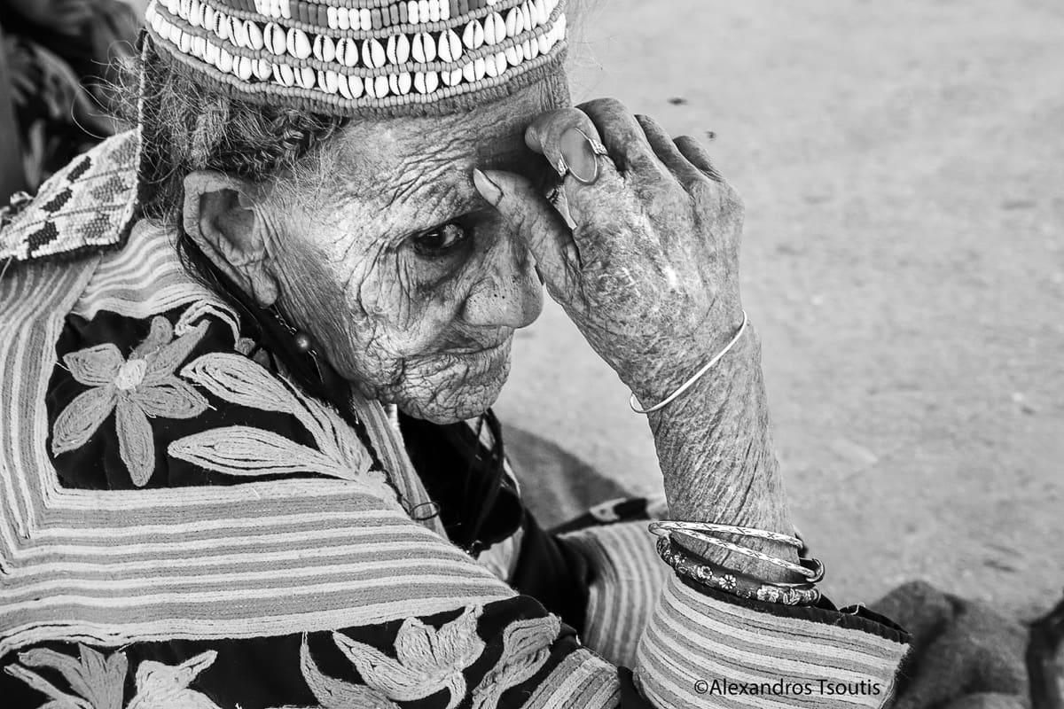 Pakistan Kalash tribe old woman