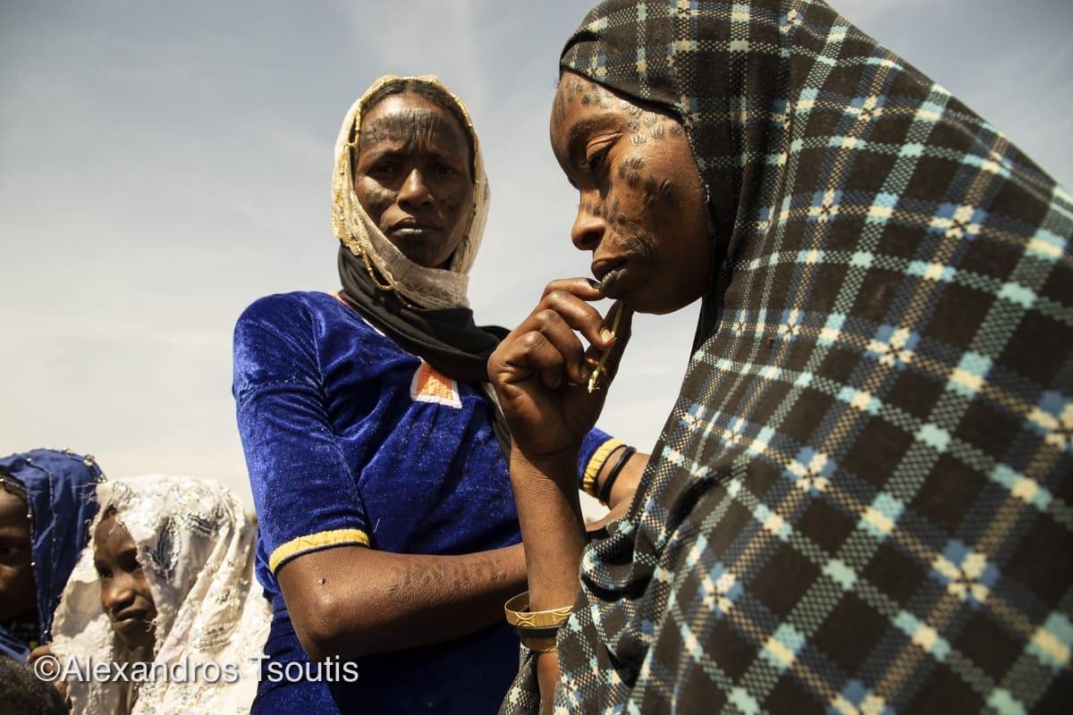 Chad women face tatoo Mbororo Fulani