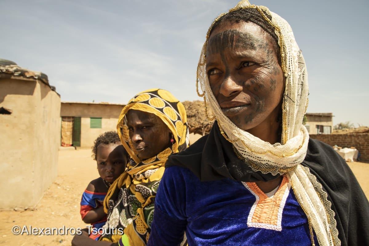 Chad Fulani tribe women face tattoo