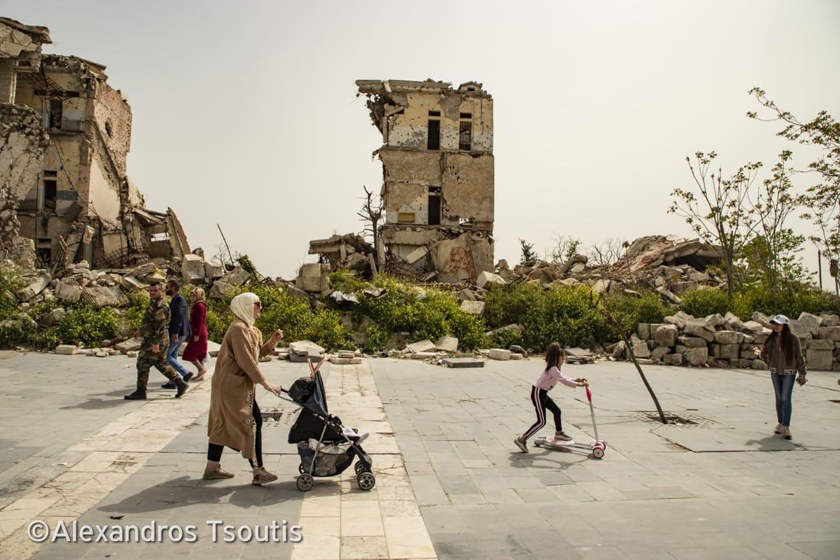 Syria Aleppo war destruction