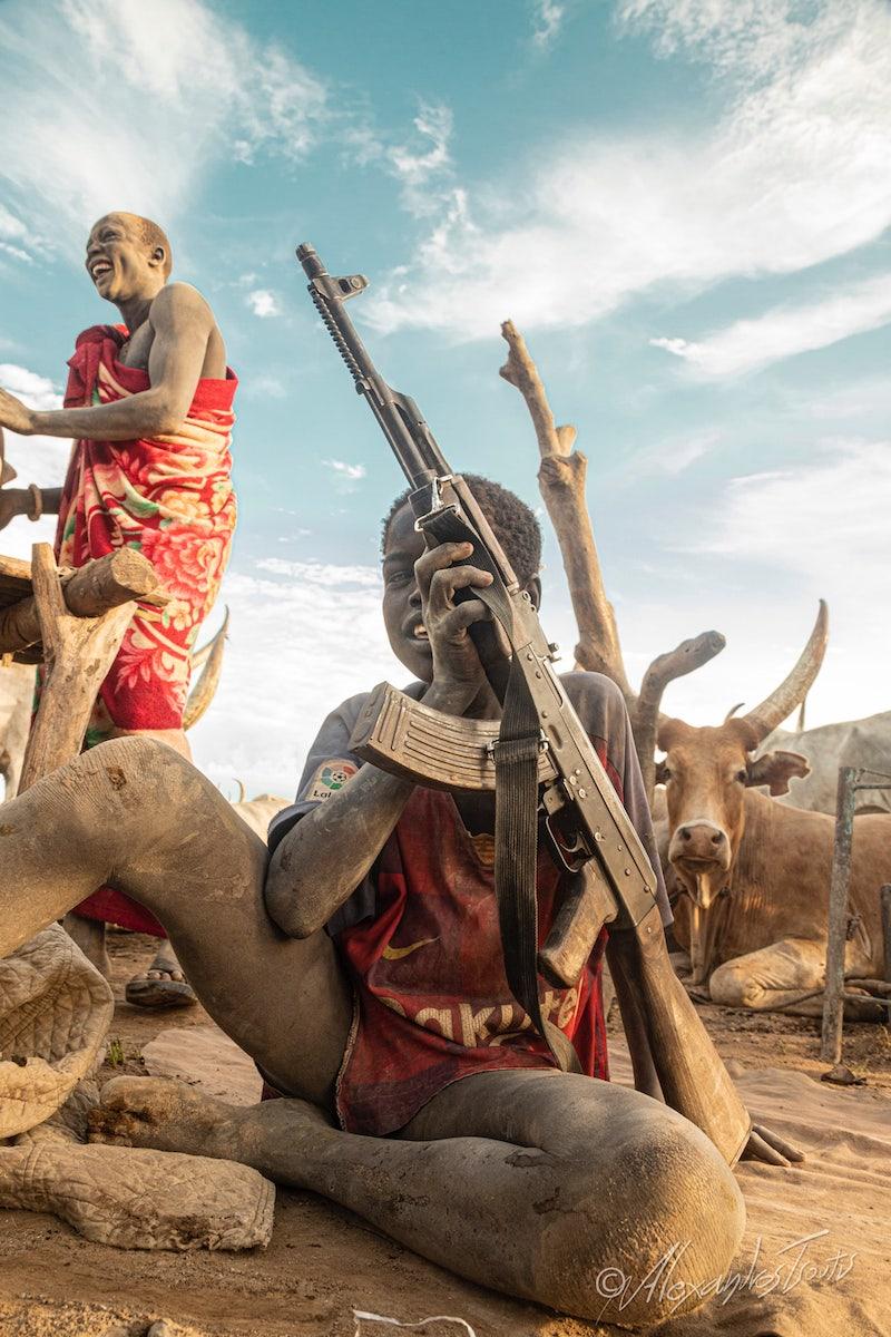φυλή Mundari Νότιο Σουδάν
